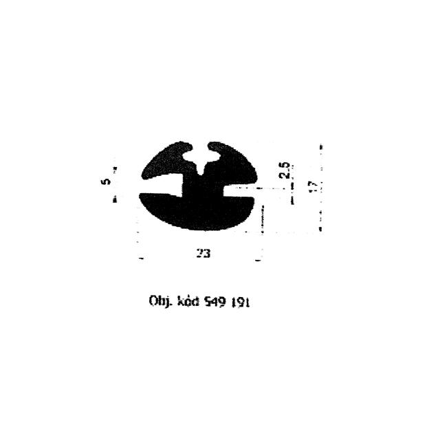 549191 - gumové těsnění pevných oken automobilů